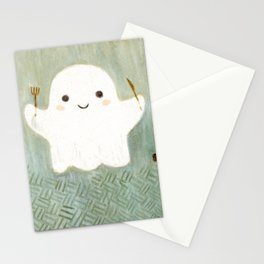 Little ghost and lemon pie Stationery Cards