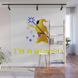 I'm a wizard yellow Wall Mural