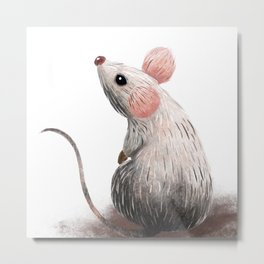 Little Mouse Metal Print