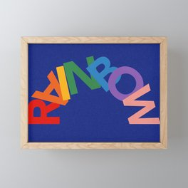 RAINBOW Framed Mini Art Print