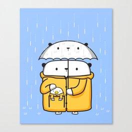 Opi y Kipi en la lluvia Canvas Print