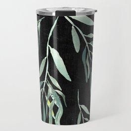Eucalyptus Branches On Chalkboard II Travel Mug