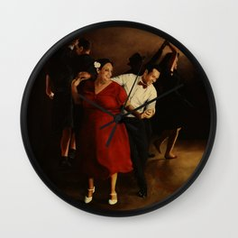 The Follow in Red Wall Clock