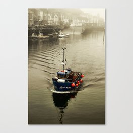 Out of the sea he came Canvas Print
