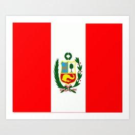 Flag of Peru Art Print