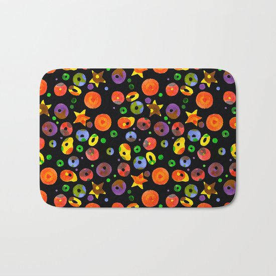 colored BOOM! Colored pattern Bath Mat