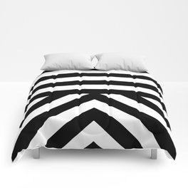 Black Stripes Comforters
