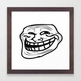 Trollface - Coolface - Problem Meme Framed Art Print
