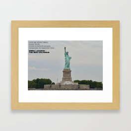 Statue of Liberty with New Colossus Framed Art Print