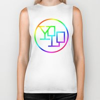 yolo Biker Tanks featuring Yolo  by Office Party