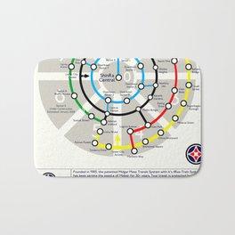 Final Fantasy VII - Midgar Mass Transit System Map Bath Mat