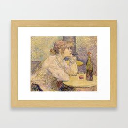 """Henri de Toulouse-Lautrec """"The Hangover (Suzanne Valadon)"""" Framed Art Print"""