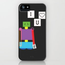 Robot in Love iPhone Case
