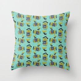The Pickle Thief (Blue) Throw Pillow