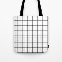 Windowpane White Tote Bag