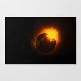 Total  Eclipse Astro Photography Canvas Print