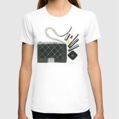 Boy Womens Fitted Tee SMALL White
