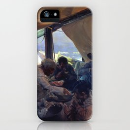 Lunch on the Boat by Joaquin Sorolla, 1898 iPhone Case