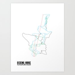 Kicking Horse, BC - Minimalist Summer Trail Art Art Print