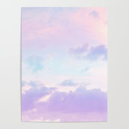 Unicorn Pastel Clouds #1 #decor #art #society6 Poster