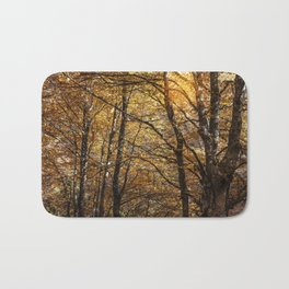 Forest in Autumn time Bath Mat