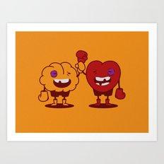 Brain vs. Heart Art Print