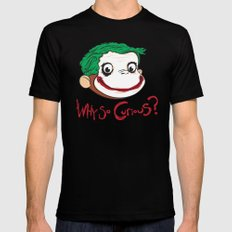 Why So Curious? Mens Fitted Tee LARGE Black