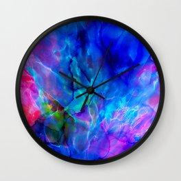 abstract sea waves cb Wall Clock