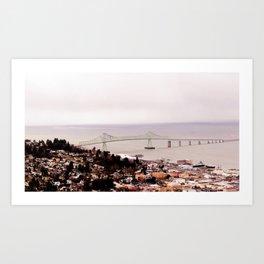 view from the Astoria Column, Astoria–Megler Bridge 2 Art Print