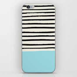Sky Blue x Stripes iPhone Skin