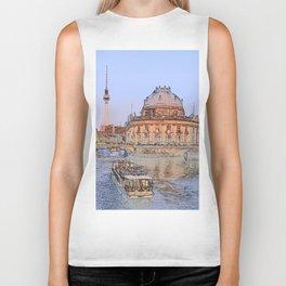 Berlin Spree Bode Museum and Alexander tower Biker Tank