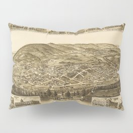 Aerial View of Harriman, Tennessee (1892) Pillow Sham
