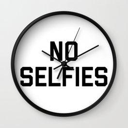 No Selfies Wall Clock