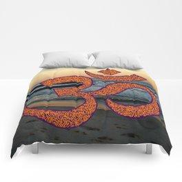 Sunset Om (Aum) Comforters