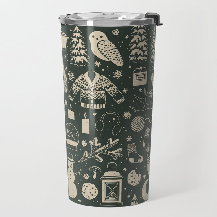 Winter Nights: Forest Travel Mug