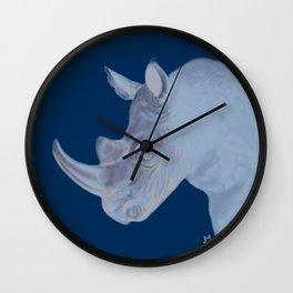 Round Rhino Wall Clock