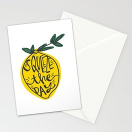 Squeeze Lemon Day Stationery Cards
