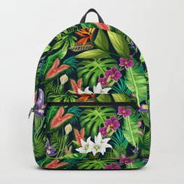 Tropical Lush Sanctuary, A Bohemian Paradise Backpack