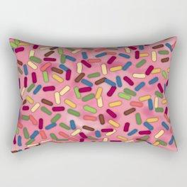 Pink Donut Glaze with Sprinkles Rectangular Pillow