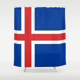 Iceland Flag Shower Curtain