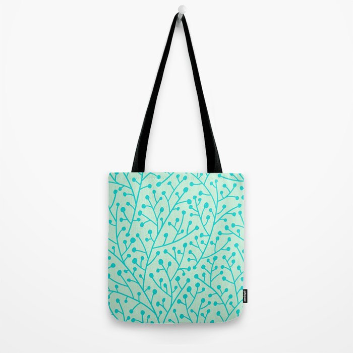 Berry Branches – Mint & Turquoise Palette Tote Bag