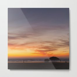 Sunset Watchers Metal Print