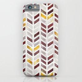 Modern Herringbone Chevron Pattern Painting iPhone Case