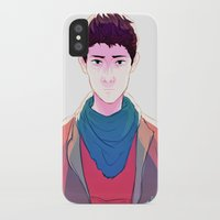merlin iPhone & iPod Cases featuring Merlin by mypabulousscarf