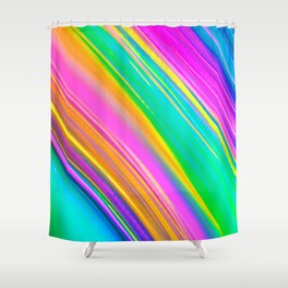 Mint Saturn Shower Curtain