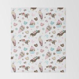 Paw Parfait Pattern Throw Blanket