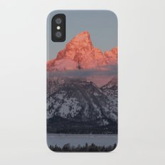Glowing Pink Sunrise in Grand Teton National Park, Wyoming Slim Case iPhone X