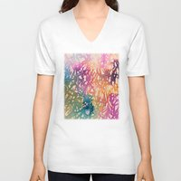 sparkle V-neck T-shirts featuring Sparkle by zeze
