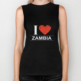 I Love Zambia Biker Tank