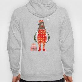 Christmas Chicken - illustration Hoody
